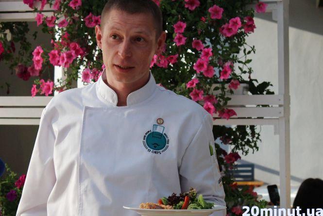 """Учасник проекту """"13 шефів"""" пригощав гостей качкою з блакитним сиром та морозивом з базиліку"""