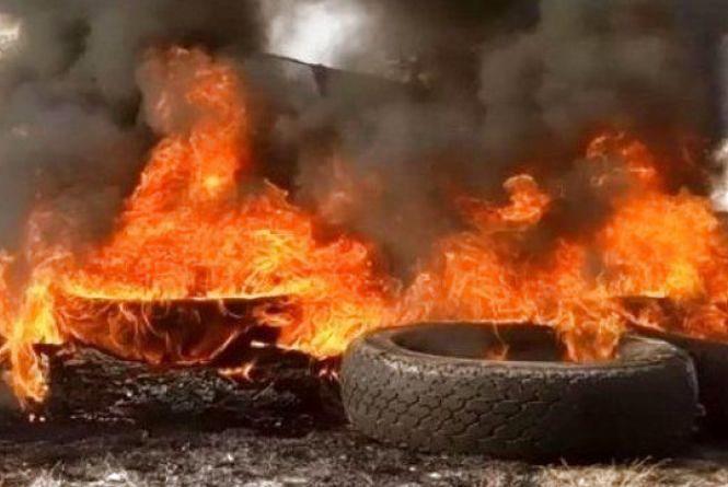 Пожежа на Текстильній: горіли автомобільні шини на території приватного підприємства