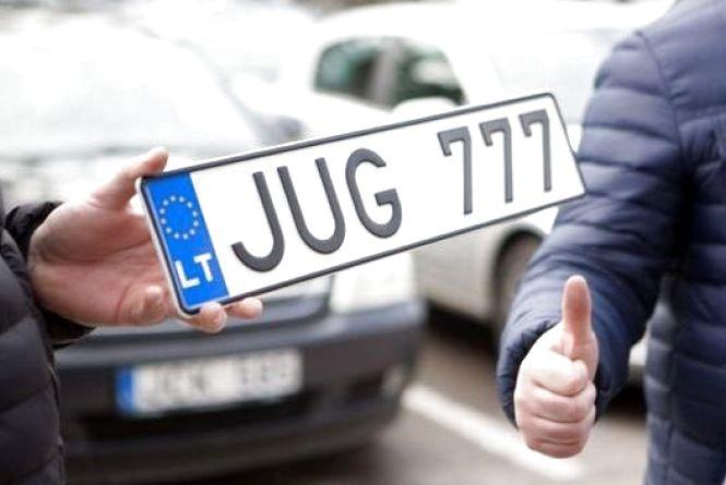 """Закони для """"євробляхерів"""": як пропонують вирішити проблеми литовських номерів"""