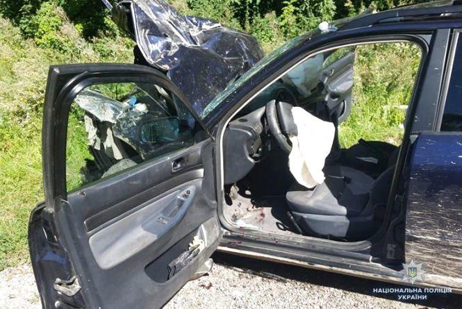 Автомобіль вщент - пасажири з саднами і забоями. Аварія біля Шляхтинців