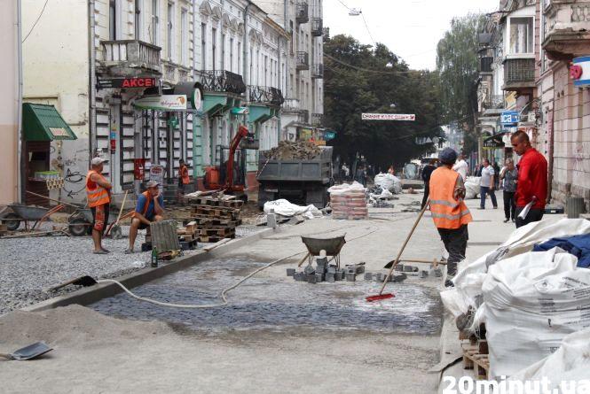 Ремонт на вулиці Чорновола планують завершити до кінця тижня
