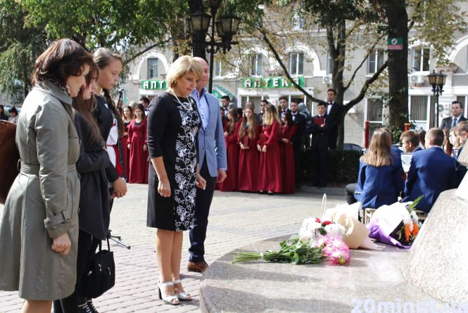 У Центрі Тернополя вшанували пам'ять Соломії Крушельницької