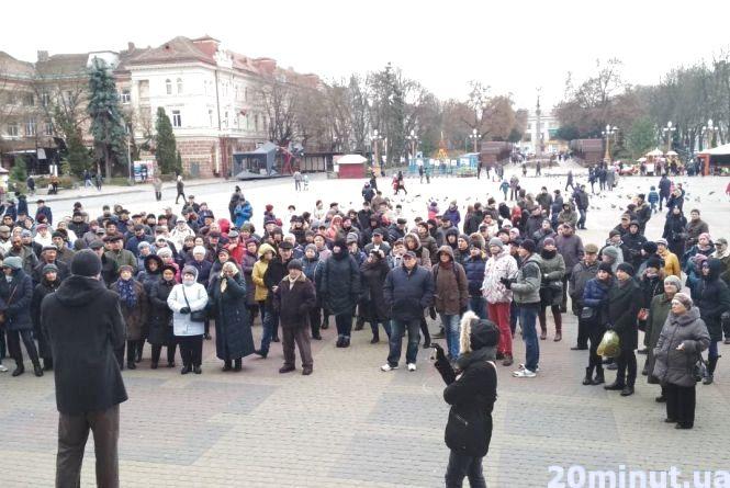 У Тернополі люди втретє зібралися на транспортне віче (оновлено)