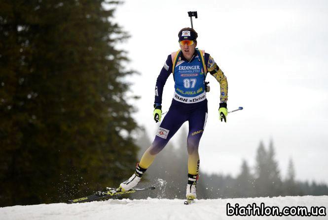Олена Підгрушна — краща серед українок у спринтерській гонці на Кубку світу