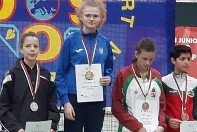 Тенісистка із Заліщик чотири рази перемогла на чемпіонаті Європи