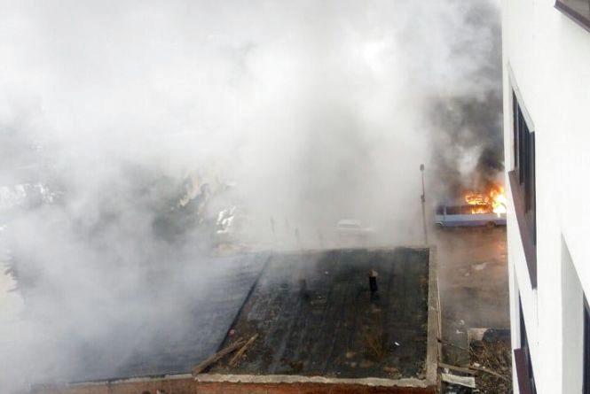 На Глибокій була пожежа. Тернополян схвилювала велика кількість диму