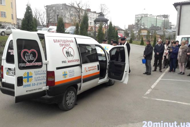 PRO_ Милосердя: у Тернополі представили авто, на якому розвозитимуть обід потребуючим людям