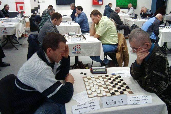 Тернополяни змагались на чемпіонаті України з шашок-100