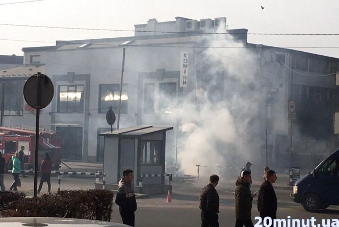 У Тернополі пожежа біля автовокзалу