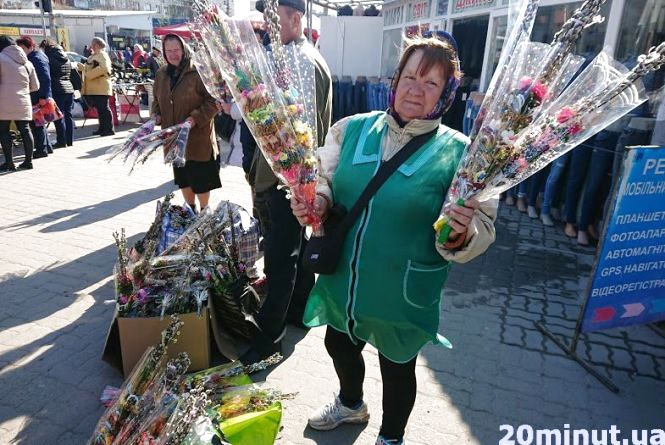 Фото дня: вербу на свято продають від 2 до 50 гривень