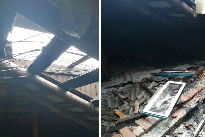 Дірявий дах, тече зі стелі і по стінах. Мешканці звинувачують у проблемі безгосподарний жек