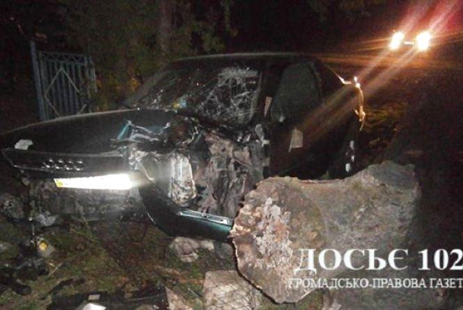 Водій Audi в реанімації після зіткнення з лежачим стовбуром дерева