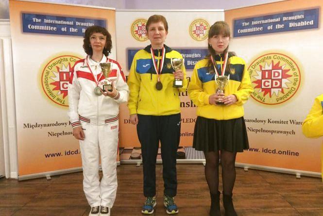 Спортсменка з Бережан стала призеркою чемпіонату Європи з шашок-100