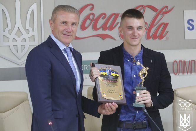 Біатлоніст Дмитро Підручний отримав нагороду кращого спортсмена України