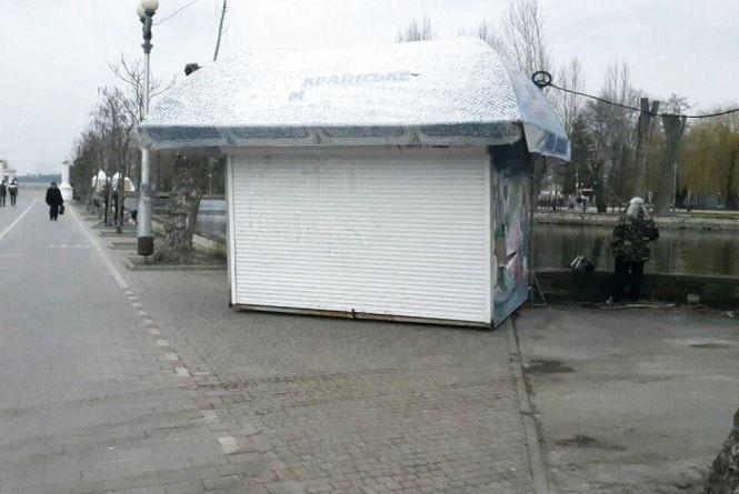 У парку Шевченка демонтують чотири МАФи