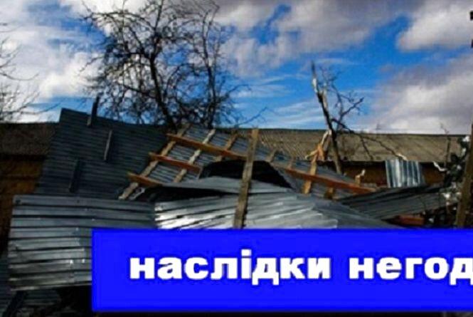 Наслідки негоди на Тернопільщині: повалені дерева і зірвані покрівлі