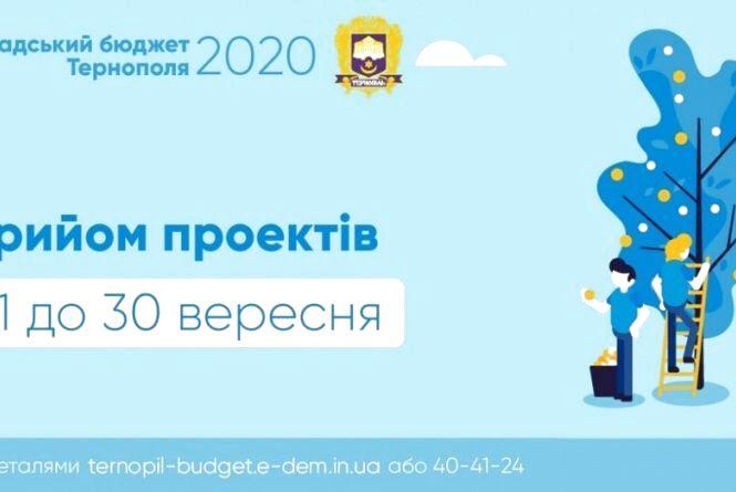 """Маєте круту ідею, але не вистачає грошей на реалізацію? У Тернополі розпочали прийом проектів на """"Громадський бюджет 2020"""""""