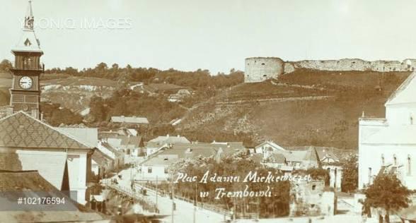 Краєвид міста із Ратушею, спаленою в Першу світову війну.